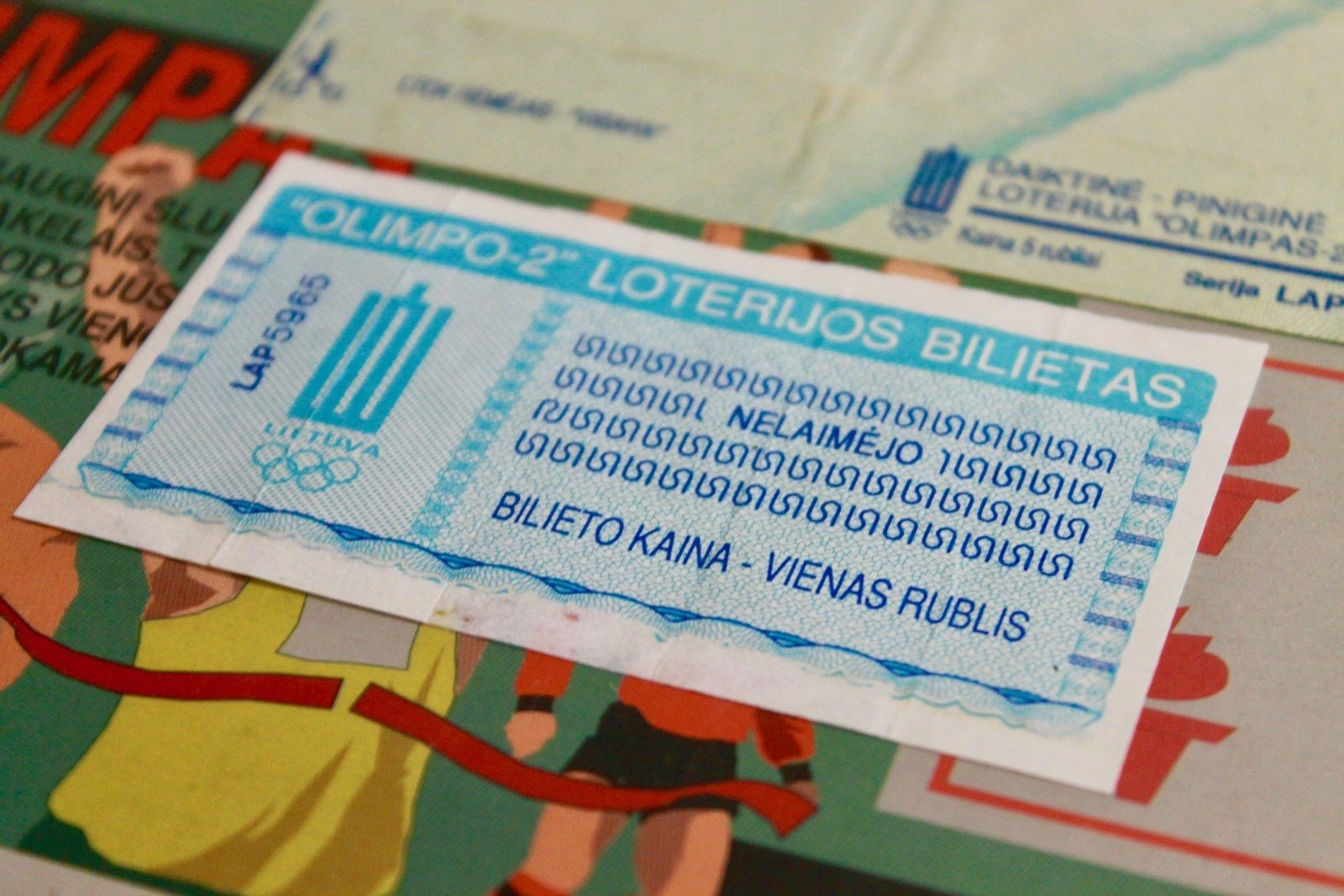 pirmas loterijos bilietas
